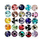 144 Swarovski Shiny Foil Flat Back Loose Rhinestone Crystals Sizes Small - Big