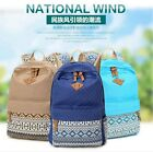 Canvas Shoulder School Bag Handbag Bookbag Backpack Mochila Travel Rucksack