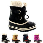 Unisex Kids Youth Sorel Yoot Pac Nylon Winter Snow Rain Waterproof Boots UK 13-6