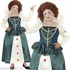 Queen Elizabeth Fancy Dress Costume Girls Medieval Tudor Outfit Age 7-12 years
