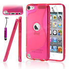 Gel Silicone Case Cover For Apple iPod Touch 5 5th Gen & Free Screen Protector