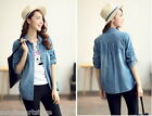 L12-Trendy Sweet Cute Kawaii classical Punk Gothic College  denim Jacket S-XXL