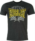 NEW GENUINE EVERLAST SUMMER TOP CHARCOAL  MARL PRINT T-Shirt  SIZES  L- 4XL