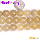"Wholesale Lot Natural Golden Rutilated Quartz Jewelry Making Loose Beads 15"" DIY"