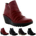 Womens Fly London Yip Mousse Wedge Heel Leather Casual Winter Ankle Boot UK 3-9