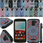 For Alcatel One Touch Fierce 2 7040T Anti Shock HYBRID HARD Case Cover + Pen