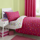 Catherine Lansfield Multi Spots Pink Childrens Duvet Quilt Cover Bedding Set