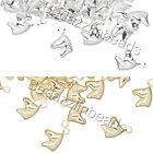 10 Small Little 6mm Horse Head Drop Charms Plated Over Brass Base Metal