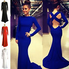 Sexy Women Long Sleeve Bandage Bodycon Evening Party Cocktail Long Maxi Dress UK