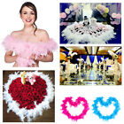 3pcs FDS Feather Boa Fluffy Flower Craft Costume Dressup Wedding Party Decor
