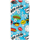 Comic Action Bubble Adjective Wallpaper Hard Case For Apple iPod Touch 6th Gen