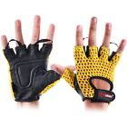 Weight Lifting Gym Fitness Bodybuilding Mesh Gloves Training Cycling Fingerless