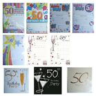 50th BIRTHDAY (Age 50) Party INVITATIONS & Envelopes - Large Range of Designs