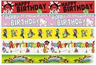 CHARACTER Happy Birthday FOIL BANNERS - Large Range {Gemma}(Kids/birthday/Party)