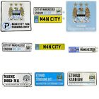 MANCHESTER CITY METAL SIGNS (Metal Door Sign, Street sign)Official Merchandise