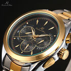 KS Mechanical Automatic Mens 6 Hands Date Day Stainless Steel Wrist Watch Gift