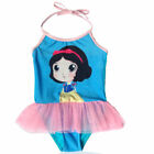 Kids Girls Swimwear Princess Snow white Sunsuit Prtection UV Gymnastic Dress