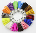 10pcs Suede Leather Tassel Keychain Cellphone Straps Jewelry Finding Charms 40mm