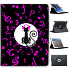 Musical Animals Folio Cover Leather Case For Apple iPad