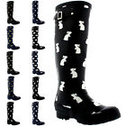 Womens Animal Print Winter Snow Rain Rubber Waterproof Wellington Boots UK 3-10