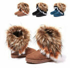 FEW New Fashion Women's Princess Shoes Warm Fringed Fur Winter Snow Casual Boots