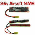 9.6V 1600-3300mAh NiMH Premium Airsoft AEG Battery packs with custom connector