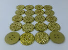 20 x METAL FLAT BACK BUTTONS GOLD FINISH CHOOSE 12MM SIZES