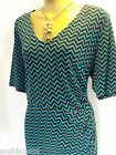 New M&S Green Black Chevron Dress Plus Size 18 26 28 Marks & Spencer Summer