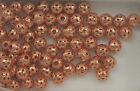 Solid Copper 6mm Filigree Round Accent Beads, Choice of Lot Size & Price