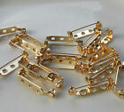 Jewellery Craft Design - Findings Gold Plated 25mm Brooch Pin Bar Back Backs