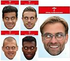 OFFICAL LIVERPOOL FC FOOTBALL PLAYER FACE MASK MASKS FUN FANCY DRESS GIFT XMAS