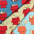 Peanuts Snoopy Oxford Cotton Japanese Fabric/ Half Yard