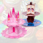 KIDS CUPCAKE STAND 2 TIER PRINCESS PIRATE BOYS GIRLS BIRTHDAY CAKE PARTY FAIRY