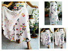 GOOD COTTON WRAP SKIRT SARONG  LINED  FLOATY  BEACH GYPSY BUTTERFLY WHITE