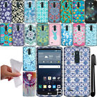 For LG G Stylo LS770 G4 Note TPU PATTERN SILICONE GEL Soft Case Phone Cover +Pen