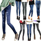 Sexy Women Slim Jeans Stretchy Jeggings Leggings Skinny Pencil Pants Trousers