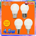 5W=40W LED GOLF BULBS LOW ENERGY WARM WHITE BC ES SBC SES - NEW