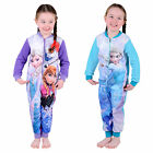Girls Disney Frozen Anna Queen Elsa Olaf All In One Pyjama PJs Nightwear Onesie
