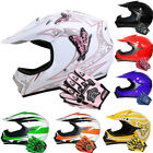 Leopard Childs Motorbike Helmet Kids Motocross Helmet + Kids Motocross Gloves