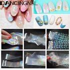 Clear Nail Art Foil Transfer Shimmer Sticker Polish Manicure Decal Decoration