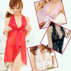 Lingerie Lace Halter Babydoll G-String Sleepwear Sexy -One Size