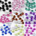 1000pc 3/4/5mm Acrylic Faceted Rhinestones Round Beads For Nail Phone Art Patch