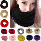 Beauty Women Wool Knit Winter Warm Knitted Neck Circle Cowl Snood Scarf