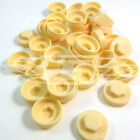 "16mm IVORY HEXAGONAL SCREW COVER CAPS TO FIT 8mm (5/16"") TEK SCREWS (AM5)"