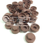 "16mm PALE BROWN HEXAGONAL SCREW COVER CAPS TO FIT 8mm (5/16"") TEK SCREWS (AN3)"