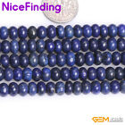 Blue Lapis Lazuli Rondelle Spacer Stone Beads For Jewelry Making Loose Beads 15""