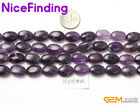 Wholesale Lot Oval Amethyst Natural Stone Beads For Jewelry Making Loose Beads