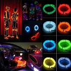 3M LED Flexible Soft Tube Lamp Wire Rope Strip Light Color Xmas Party Car Deco