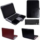 PU Leather Jacket Slim Case Cover + Keyboard Skin for MacBook Pro 13 Non Retina