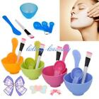 New 4 in 1 DIY Facial Mask Mixing Bowl Brush Spoon Stick Tool Face Care Set - LD